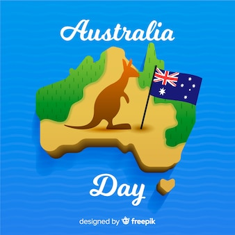 Creative australia day background
