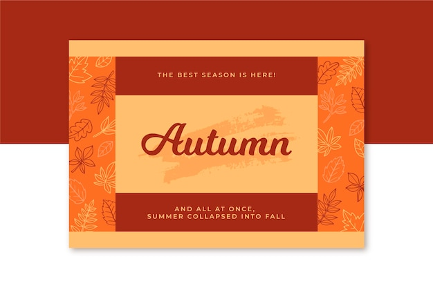クリエイティブな秋のカードテンプレート
