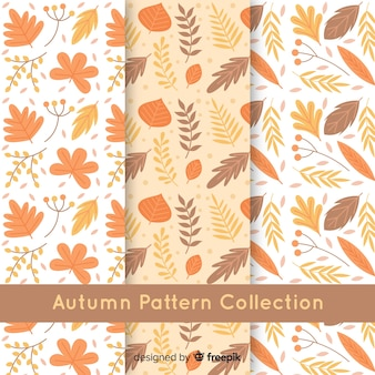 Creative autumn pattern collection