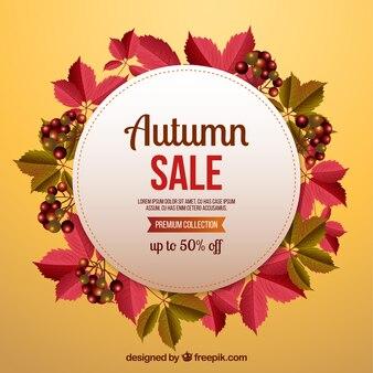 Creative autumn sale background