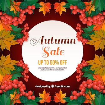 Creative autumn sale background