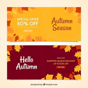 Creative autumn sale banners