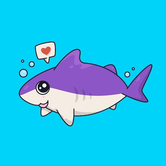 Creative baby shark illustration