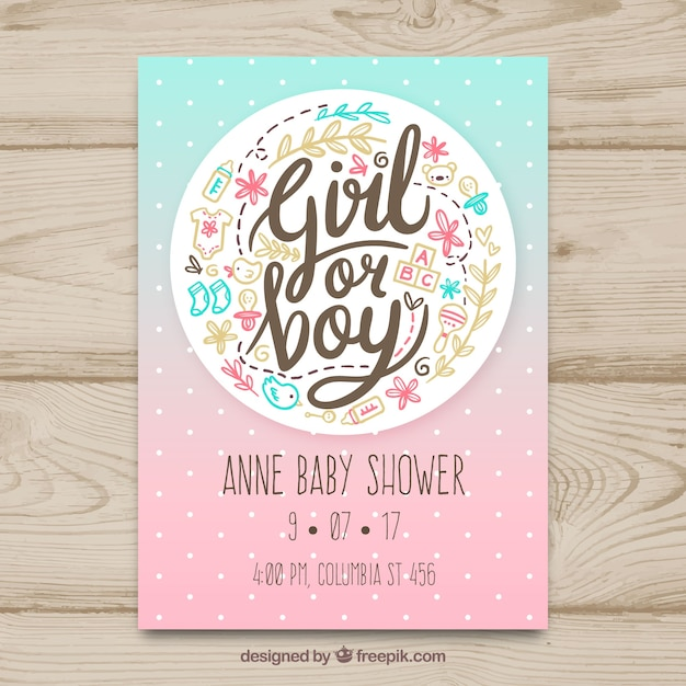 Charming Creative Baby Shower Card Template