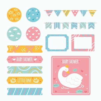 Creative baby shower scrapbook set