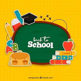 Creative back to school background
