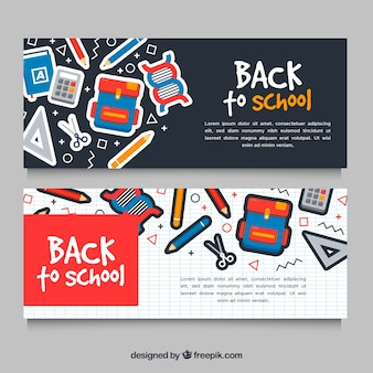 Creative back to school banners