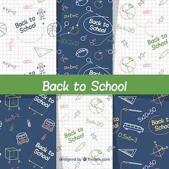Creative back to school pattern collection