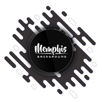 Creative back and white modern memphis banner background