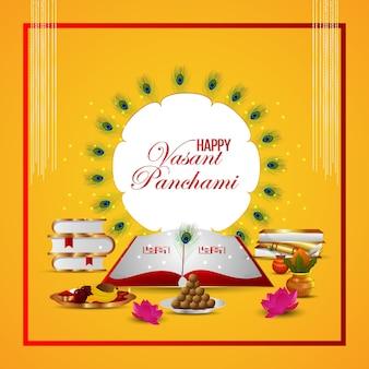 Creative background for happy vasant panchami