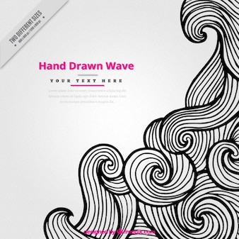 Creative background of hand drawn swirling