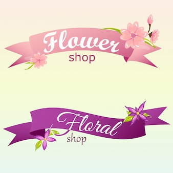 Creative banne for flower shop