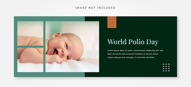 Creative banner world polio day design template