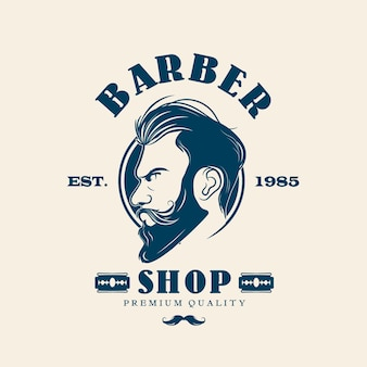 Creative barber shop logo