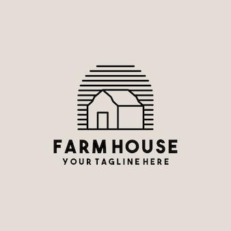 Creative barn farm house logo design