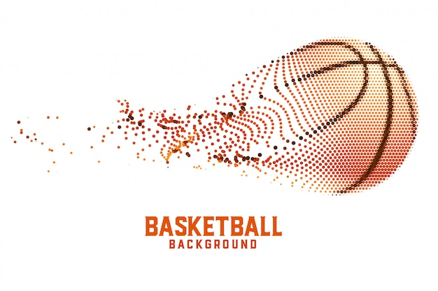 Creative basketball  made with abstract particles