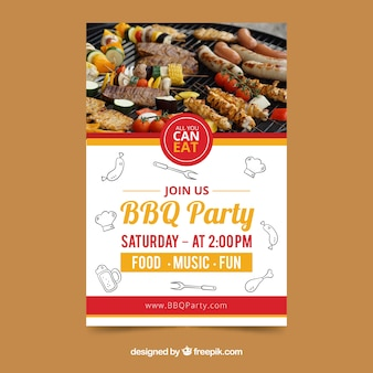 Creative bbq invitation template