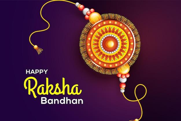 Creative beautiful rakhi on red background for raksha bandhan sale