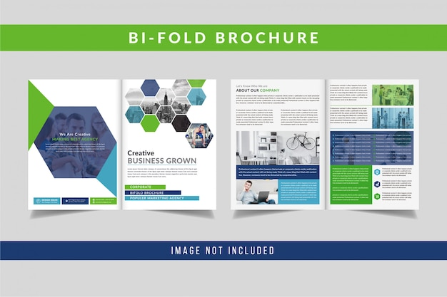 Creative bifold brochure design