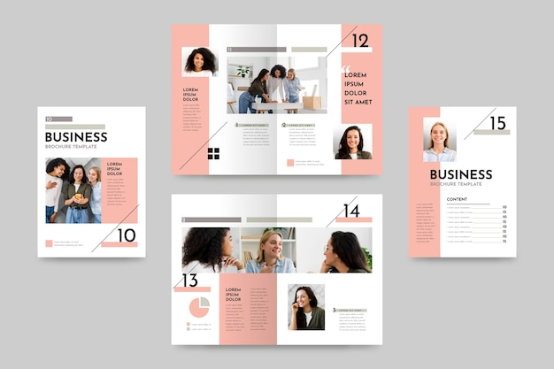 Creative bifold brochure template