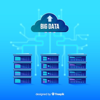 Creative big data background design