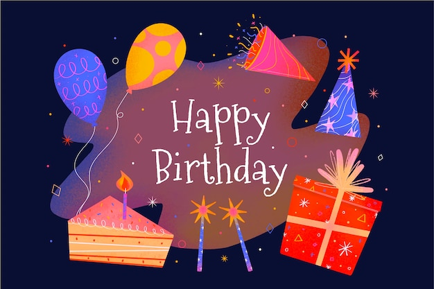 Creative birthday background illustrated