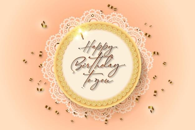 Creative birthday cake background vector