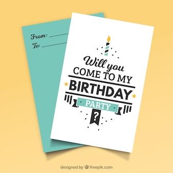Creative birthday template