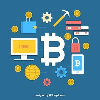Creative bitcoin background