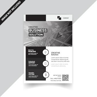 Creative black flyer design