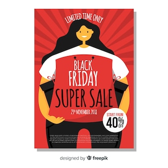 Creative black friday cover template