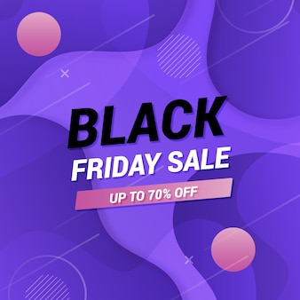 Creative black friday in gradient style