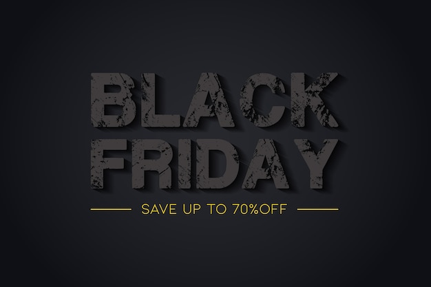 Creative black friday sale background  with a text style effect