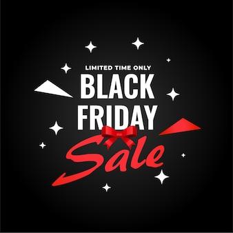 Banner di vendita venerdì nero creativo per lo shopping