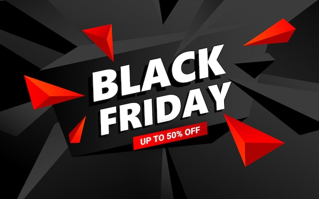 Creative black friday sale banner template.