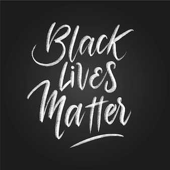 Creative black lives matter lettering