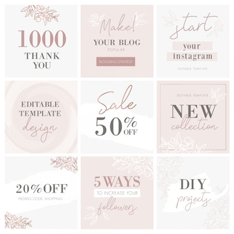 Creative blog banner templates