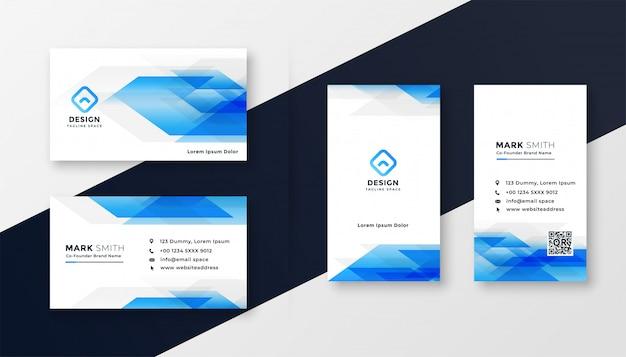 크리 에이 티브 블루 추상 명함 디자인