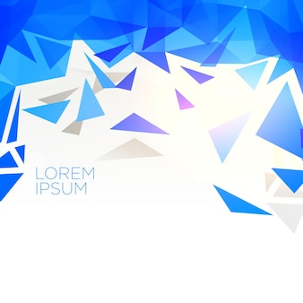 Creative blue abstract triangle shape background