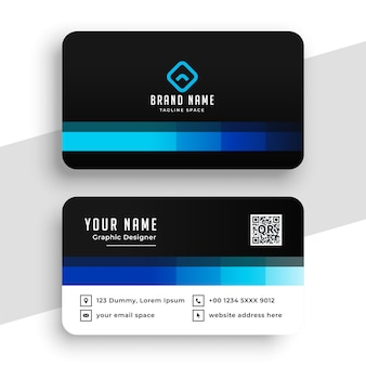 Creative blue business card design