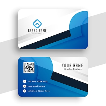 Creative blue business card modern design