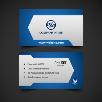 Creative blue color business card