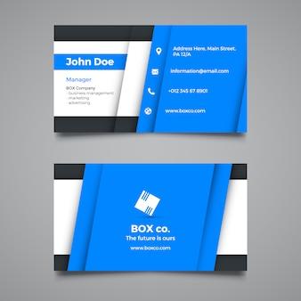 Creative blue corporate business card template