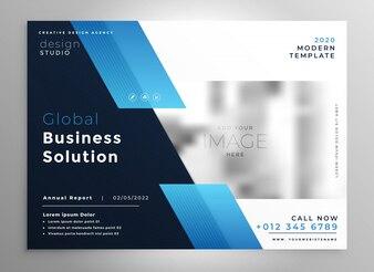 Creative blue modern business brochure