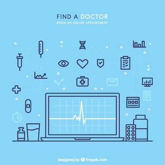 Creative blue online doctor design