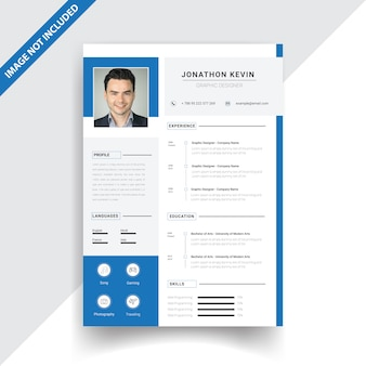 Creative blue resume design