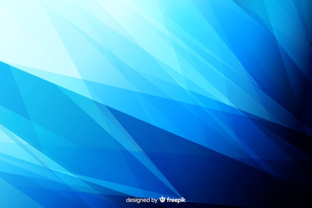 Creative blue shapes background