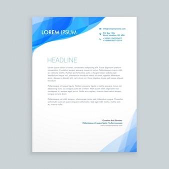Creative blue wave letterhead
