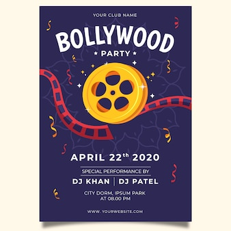 Creative bollywood party poster