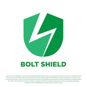 Creative bolt shield logo concept shield with thunder design for your business or others